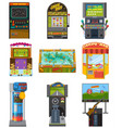 game machine arcade gambling games hunting vector image vector image