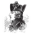 general edward braddock vintage vector image vector image