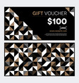 gift voucher design in gold and black vector image vector image