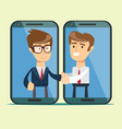 good deal negotiations businessman and vector image vector image