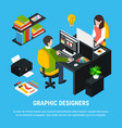graphic design isometric concept vector image