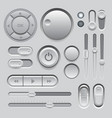 Gray web ui elements design vector