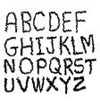 hand draw font vector image vector image