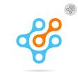 High tech logo concept vector image vector image