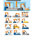 industrial automated manufacturing concept vector image vector image