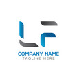 initial lf letter business logo design template vector image vector image