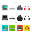 isolated object laptop and device symbol set vector image vector image