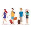 isolated travel people design vector image vector image