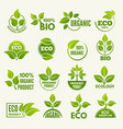 logos of eco style business concepts to protect vector image