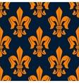 Medieval royal fleur-de-lis floral pattern vector image vector image