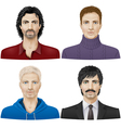 Men face vector image vector image