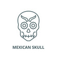 mexican skull line icon linear concept vector image vector image