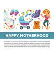 motherhood happy mother and newborn child clothing vector image vector image