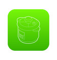 multi cooker icon green vector image vector image