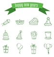 New Year element of icons vector image vector image