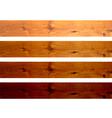 Oak boards vector image vector image