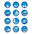 ocean wave icon set vector image vector image
