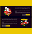 pizza house and restaurant promotional banners set vector image vector image