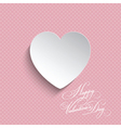 polka dot valentines heart background 0512 vector image vector image