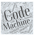 Programming CNC Machines With G Codes Word Cloud vector image vector image