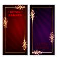 retro banner frame vector image