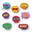 retro speech bubble vector image vector image