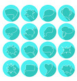 round speech bubbles set vector image vector image