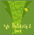 saint patrick s day greeting card vector image