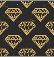 seamless grunge pattern with vintage diamonds vector image