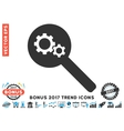 Search Gears Tool Flat Icon With 2017 Bonus Trend vector image
