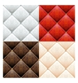 Set of 4 satin quilted seamless texture vector image vector image