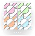 set of light seamless patterns vector image