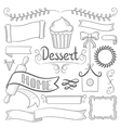 Set of ribbons frames for bakery menu vector image