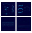 set of vintage frames on a white background vector image vector image