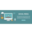 Social media concept banner vector image vector image
