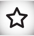 star favorites on white background vector image