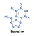 stavudine medication hiv vector image vector image