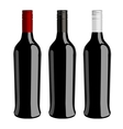 Three bottles of wine vector image
