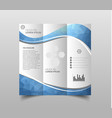 tri-fold brochure design templates with modern vector image vector image
