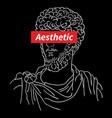 typography logo aesthetic vaporwave vector image vector image
