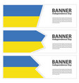 ukraine flag banners collection independence day vector image vector image