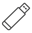 usb flash drive line icon web and mobile memory vector image