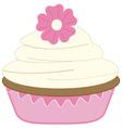 Vanilla Cupcake vector image vector image