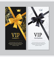 vip invitation and card set vector image vector image