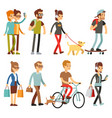 walking people human persons on street in outdoor vector image vector image