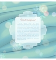 Winter background with frame for text vector image vector image