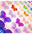 Colorful transparent butterflies summer pattern vector image
