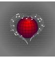 music like heart around the world vector image