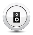 Button with music column vector image