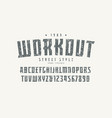 serif font in the sport style vector image